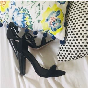 ASOS suede black heeled sandals